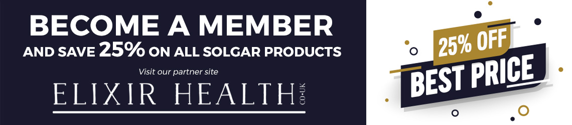 Save 50% on Solgar at Elixir Health